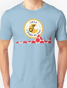 Red Polka Dot 2014 L'Etape du Tour Mountain Profile v2 Unisex T-Shirt