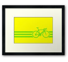Bike Stripes Green Framed Print