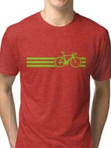 Bike Stripes Green Tri-blend T-Shirt