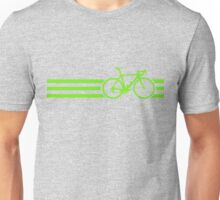 Bike Stripes Green Unisex T-Shirt