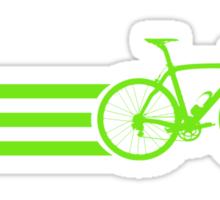 Bike Stripes Green Sticker