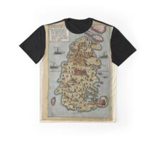 Map Of Malta 1565 Graphic T-Shirt