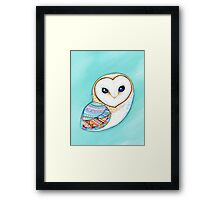 Tribal Pattern Barn Owl Framed Print