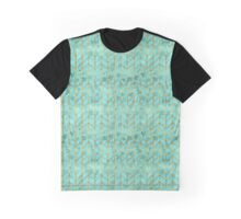 Gold Foil Herringbone on Tiffany Blue Ivy Watercolor Pattern Graphic T-Shirt