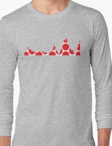 Red Polka Dot Mountain Profile Long Sleeve T-Shirt