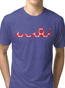 Red Polka Dot Mountain Profile Tri-blend T-Shirt