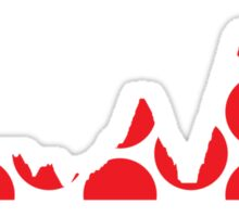 Red Polka Dot Mountain Profile Sticker