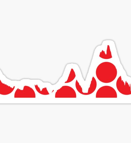 Red Polka Dot Mountain Profile Sticker