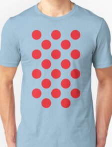 Red Polka Dot (King of the Mountains) Unisex T-Shirt