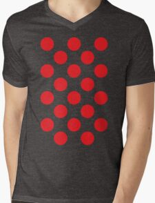 Red Polka Dot (King of the Mountains) Mens V-Neck T-Shirt