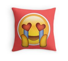 fangirl emoji Throw Pillow