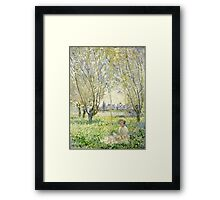Claude Monet - Woman Seated Under The Willows 1880  Framed Print