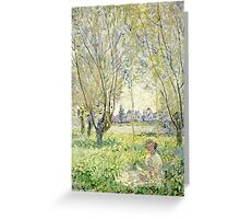 Claude Monet - Woman Seated Under The Willows 1880  Greeting Card