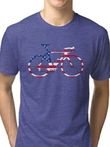 Bike Flag USA (Big) Tri-blend T-Shirt