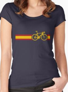 Bike Stripes Spanish National Road Race Women's Fitted Scoop T-Shirt