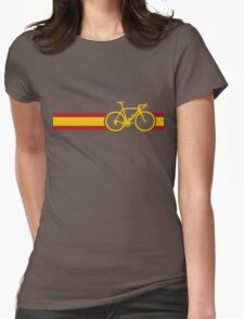 Bike Stripes Spanish National Road Race Womens Fitted T-Shirt