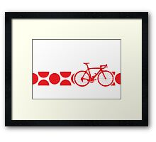 Bike Stripes King of the Mountains (Red) Framed Print