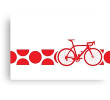 Bike Stripes King of the Mountains (Red) Canvas Print