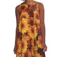 Chrysanthemums A-Line Dress