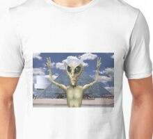 Alien Vacation - Peace sign at the R and R Hall of Fame Unisex T-Shirt