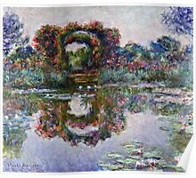 Claude Monet - The Artists Garden At Giverny 1900  Poster