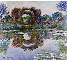 Claude Monet - The Artists Garden At Giverny 1900  Photographic Print
