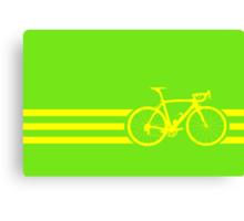 Bike Stripes Yellow Canvas Print