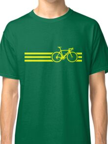 Bike Stripes Yellow Classic T-Shirt