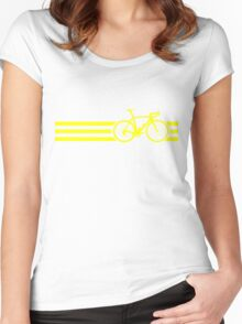 Bike Stripes Yellow Women's Fitted Scoop T-Shirt