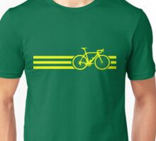 Bike Stripes Yellow Unisex T-Shirt