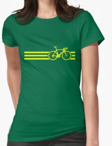 Bike Stripes Yellow Womens Fitted T-Shirt
