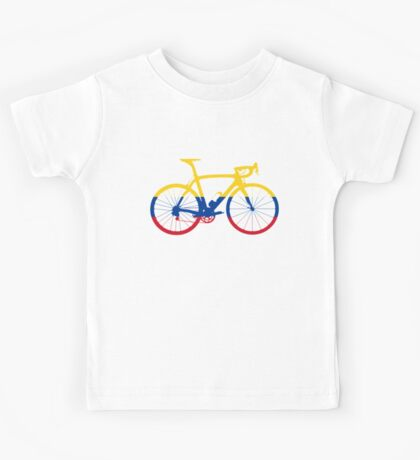 Bike Flag Colombia (Big) Kids Tee