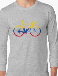 Bike Flag Colombia (Big) Long Sleeve T-Shirt