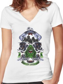 Ghostbuster Women's Fitted V-Neck T-Shirt
