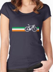 Bike Stripes Irish National Road Race Women's Fitted Scoop T-Shirt