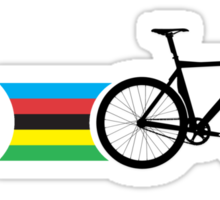 Bike Stripes World Track Champion Sticker