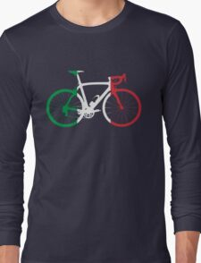 Bike Flag Italy (Big) Long Sleeve T-Shirt