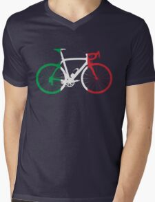 Bike Flag Italy (Big) Mens V-Neck T-Shirt