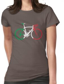 Bike Flag Italy (Big) Womens Fitted T-Shirt