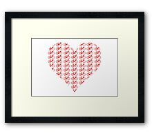 Bike Heart (Red) (Small) Framed Print