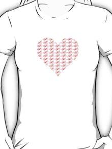 Bike Heart (Red) (Small) T-Shirt