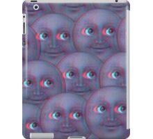Fuzzy moon emoji  iPad Case/Skin