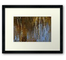 Reflected Birches Framed Print