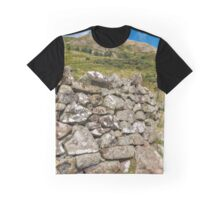 The stoned fence in the Ochil Hills, Central Scotland Graphic T-Shirt