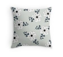 Delicate Flowers Pattern Throw Pillow