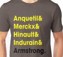 5 Times Tour Winners (Yellow) Unisex T-Shirt