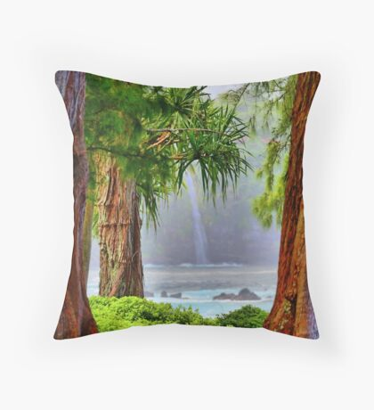 Laupahoehoe Hawaii Throw Pillow
