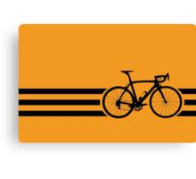 Bike Stripes Black Canvas Print