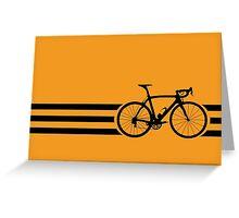 Bike Stripes Black Greeting Card
