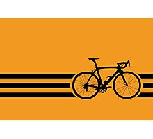 Bike Stripes Black Photographic Print